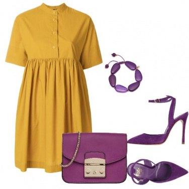 Outfit Giallo e viola