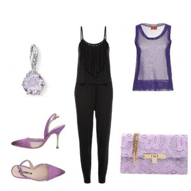 Outfit Violet per una sera