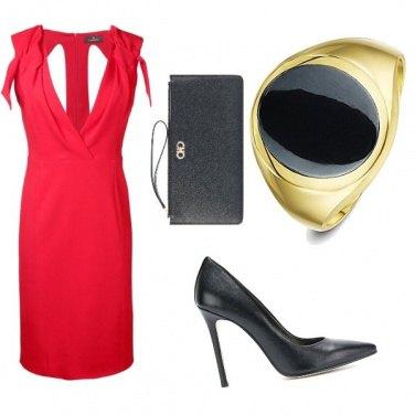 Outfit Rouge et noire