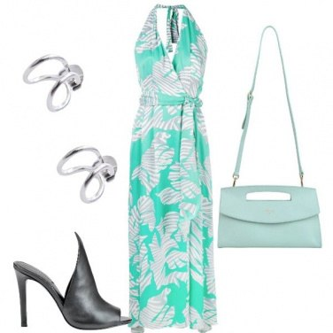 Outfit Cerimonia in sabot
