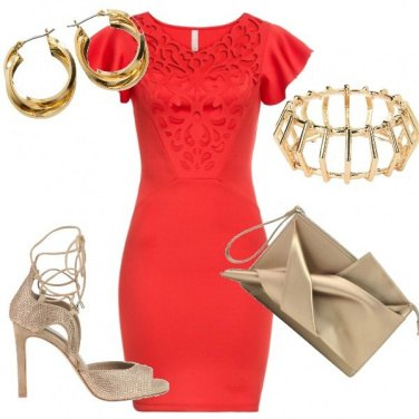 Outfit Dorata con Glamest