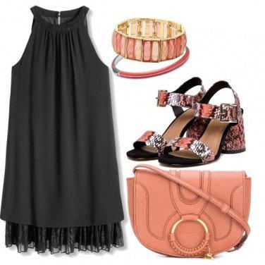Outfit Una borsa color albicocca