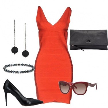 Outfit Curve in rosso