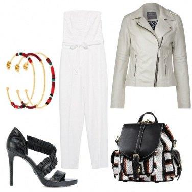 Outfit Serata fuori con zainetto