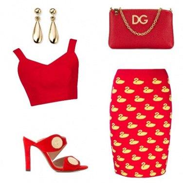 Outfit Rosso di sera ...