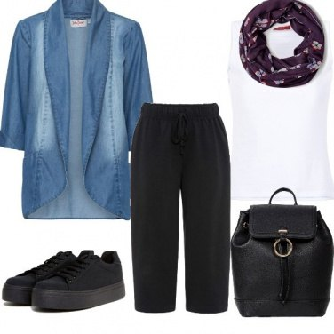 Outfit Violet touch!