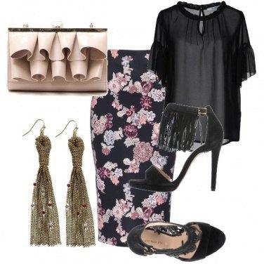 Outfit Di sera con i fiori