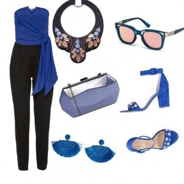 Outfit Sui toni del blu