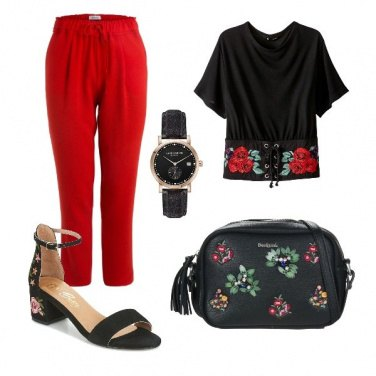 Outfit Rose sul tacco