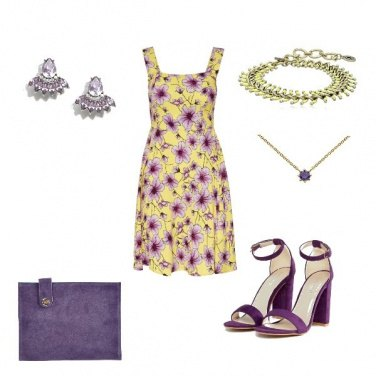 Outfit Yellow- purple