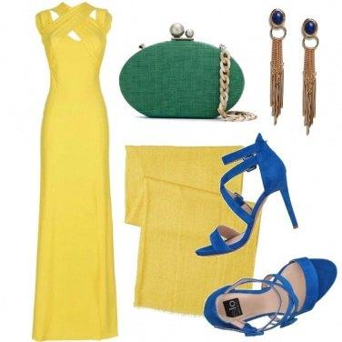 Outfit Triade giallo, verde, blu