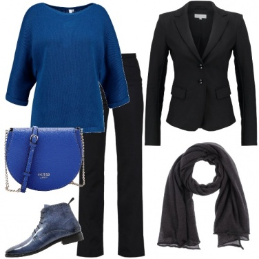 Outfit In blu e nero