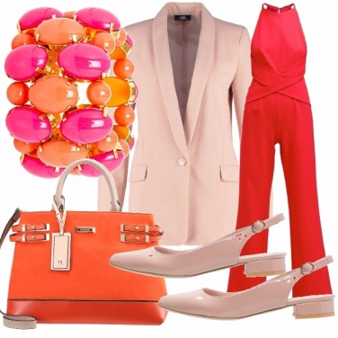 Outfit Jumpsuit corallo