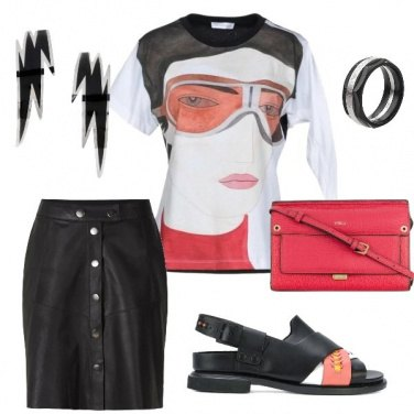 Outfit Evening in pencil skirt