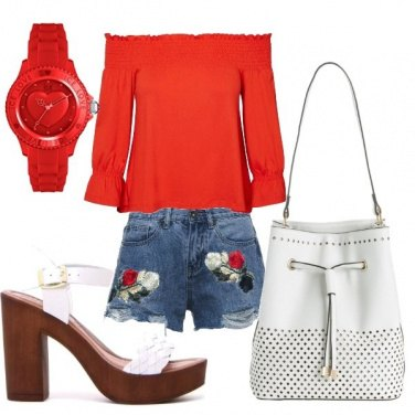 Outfit Rosso glam