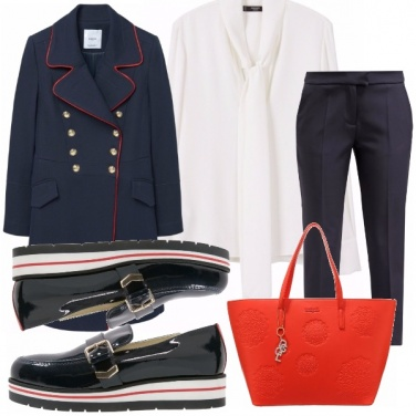Outfit Navy-red-white