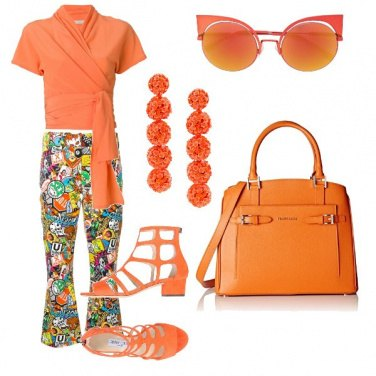 Outfit Arancio per il tempo libero