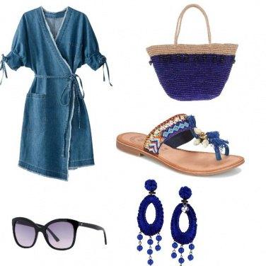 Outfit Passeggiata al mare in violet