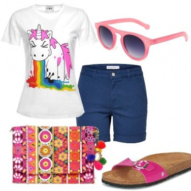 Outfit L\'arcobaleno addosso