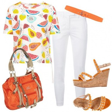 Outfit Arancione casual