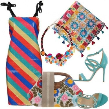 Outfit Rainbow in mix and match