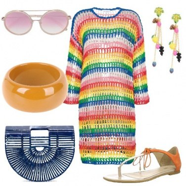 Outfit Abito rainbow