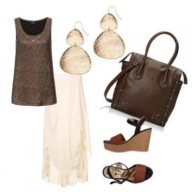 Outfit Panna e cioccolato woman
