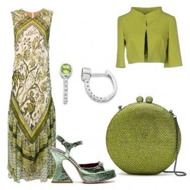 Outfit Cerimonia oliva