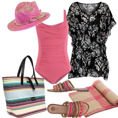 Outfit Spiaggia rosa