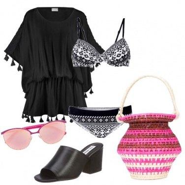 Outfit La borsa di raffia
