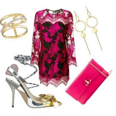 Outfit La scarpa argento e oro