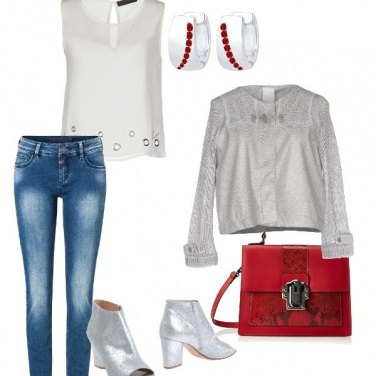 Outfit Silver and red