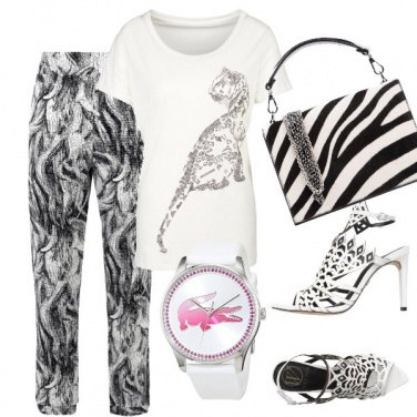 Outfit White animal