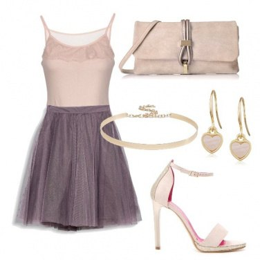 Outfit Rosè e tulle
