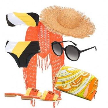 Outfit Pareo arancione