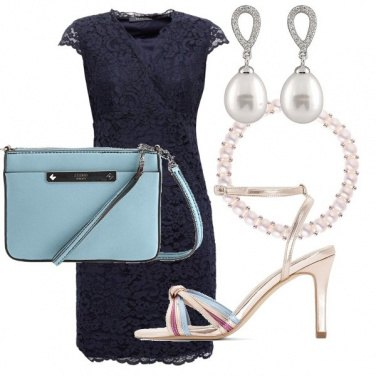Outfit Pizzo e perle