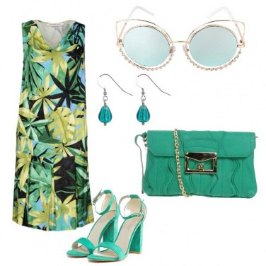 Outfit Turchese e verde