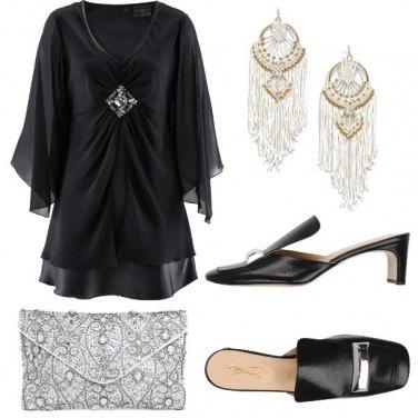 Outfit Caftano e ciabattine chic