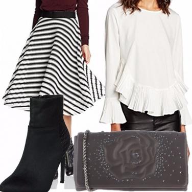 Outfit Grigio, nero e bianco!