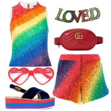 Outfit Over The Rainbow