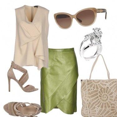 Outfit Crema e pistacchio