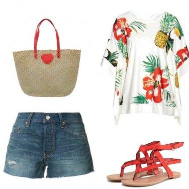 Outfit Tocchi di rosso