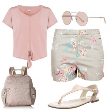 Outfit Turista in rosa