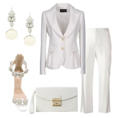 Outfit Un party in bianco