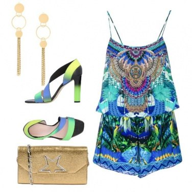 Outfit Playsuit in seta