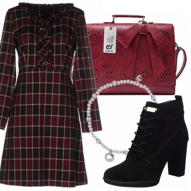 Outfit Abito tartan