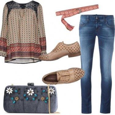 Outfit La blusa folk