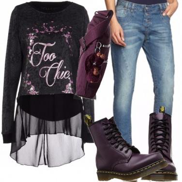 Outfit Per l\'autunno denim&animalier