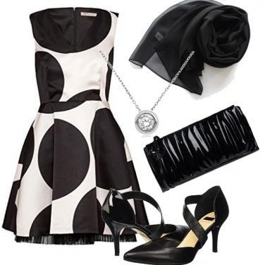 Outfit Serata in bianco e nero