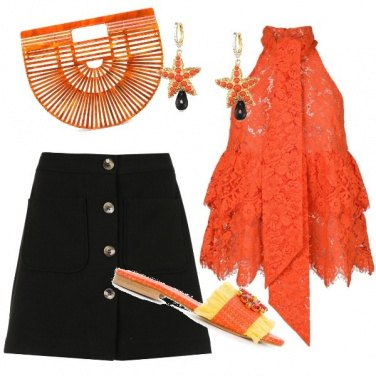 Outfit Orange style